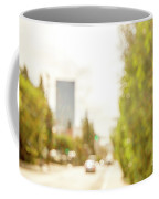 The Hedge By The Sidewalk During Day In The City Of Los Angeles Coffee Mug