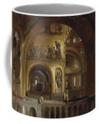 The Interior Of St Marks Basilica Venice Frederick Leighton Coffee Mug