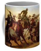 The Lion Hunt Horace Vernet Coffee Mug