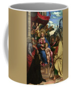 The Madonna And Child With Angels Saints And A Donor Coffee Mug
