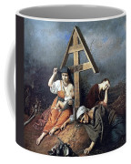 The Scene At The Grave H 1859 58h69 Am Gtg Vasily Perov Coffee Mug