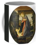 The Virgin Adoring The Child Coffee Mug