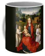 The Virgin And Child Between Two Angels Coffee Mug