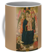 The Virgin And Child Enthroned With Angels Coffee Mug