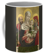 The Virgin And Child With Saints Paul And Jerome Coffee Mug