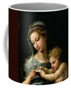 The Virgin Of The Rose Coffee Mug