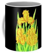 Three Yellow Irises, Painting Coffee Mug