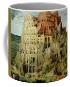 Tower Of Babel Coffee Mug by Pieter the Elder Bruegel