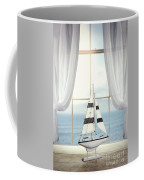 Toy Boat In Window Coffee Mug