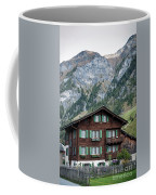 Traditional Swiss Alps Houses In Vals Village Alpine Switzerland Coffee Mug