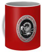 Treasure Trove - Sacred Silver Scorpion On Red Coffee Mug