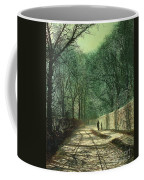Tree Shadows In The Park Wall Coffee Mug