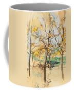 Trees In The Bois De Boulogne Coffee Mug