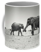 Trunk Pumping Elephants Coffee Mug