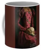 Tudor Woman Holding A Human Skull Coffee Mug