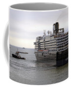 Tugboat Assisting Big Cruise Liner In Venice Italy Coffee Mug