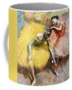 Two Dancers In Yellow And Pink Coffee Mug