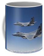 Two F-15 Eagles Conduct Air-to-air Coffee Mug by HIGH-G Productions