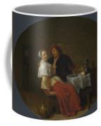 Two Lovers At Table Coffee Mug