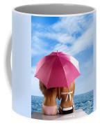 Two Women Relaxing On A Shore Coffee Mug