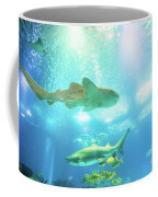 Undersea Shark Background Coffee Mug