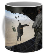U.s. Airmen Jump From A C-130 Hercules Coffee Mug