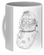 Us Navy Diving Helmet Mark V Coffee Mug