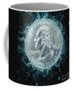 Us One Quarter Dollar Coin 25 Cents Coffee Mug