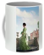 Victorian Woman In A Green Dress Coffee Mug
