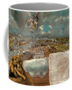 View And Plan Of Toledo Coffee Mug