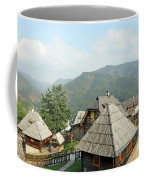 Village On Mountain Rural Landscape Coffee Mug