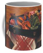 Violin Case And Flowers Coffee Mug