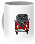 Volkswagen Type 2 - Red And Black Volkswagen T 1 Samba Bus On White  Coffee Mug
