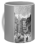 Wall Street, 1889 - To License For Professional Use Visit Granger.com Coffee Mug