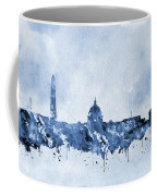 Washington Skyline-blue Coffee Mug