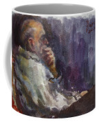 Man Watching Tv  Coffee Mug