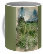 Watercolor Painting Of Beautiful Vibrant Summer Sunrise Over Eng Coffee Mug