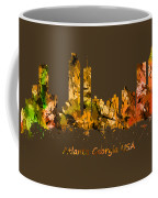 Watercolour Art Print Of The Skyline Of Atlanta Georgia Usa Coffee Mug