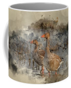 Watercolour Painting Of Beautiful Greylag Goose Anser Anser In W Coffee Mug