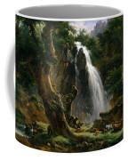 Waterfall At Mont-dore Coffee Mug
