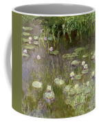 Waterlilies At Midday Coffee Mug by Claude Monet