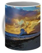 Waves At Sunrise Coffee Mug