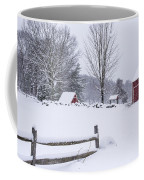 Wayside Inn Grist Mill Covered In Snow Storm Coffee Mug