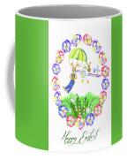 Welcome Spring. Rabbit And Flowers Coffee Mug