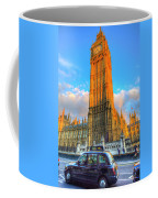 Westminster Bridge And Taxi Coffee Mug