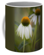 White Coneflower Coffee Mug