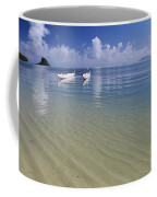 White Double Hull Canoe Coffee Mug
