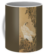 White Eagle Eyeing A Mountain Lion Coffee Mug