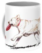 White Frisbee Dog Coffee Mug