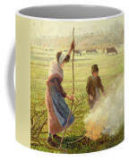 White Frost Coffee Mug by Camille Pissarro